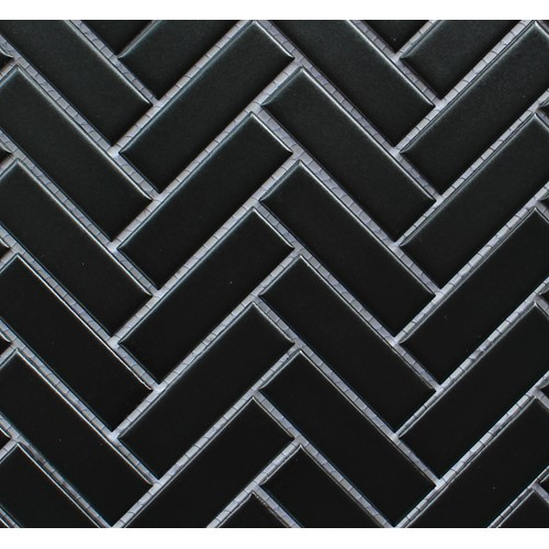HERRINGBONE BLACK MATT 274X318
