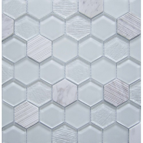 MODERN WHITE HEX MATT 300X305