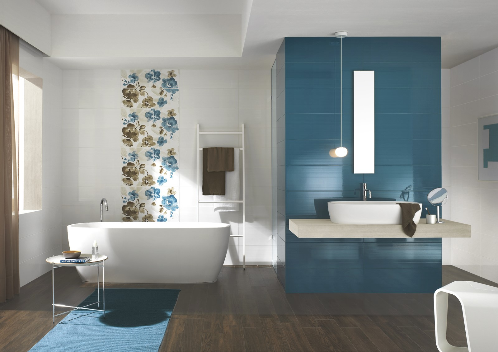 Bathroom concept d tile warehouse for Carrelage salle de bain blanc brillant