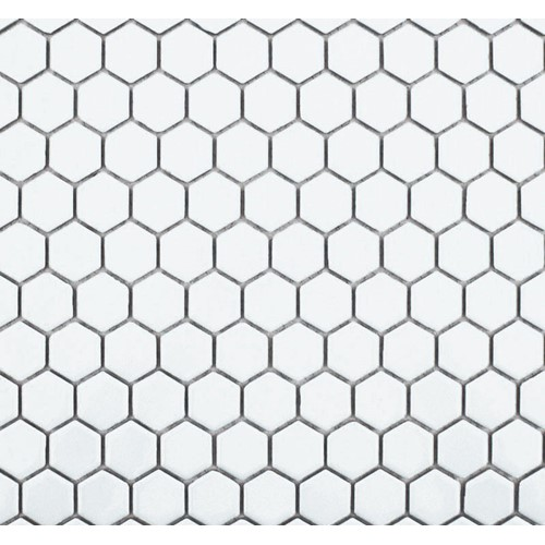 ESSENCE 23X26 HEXAGON WHITE GLOSS 260X300