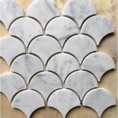 CLASSIC CARRARA FAN MOSAIC POLISHED 245X248