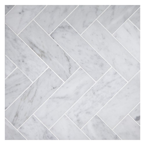 CLASSIC CARRARA HERRINGBONE MOSAIC POLISHED 305X325