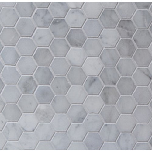 CLASSIC CARRARA HEXAGON MOSAIC POLISHED 300X300