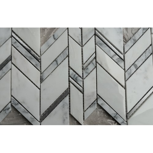 ARC SILVER CHEVRON POLISHED 252X306