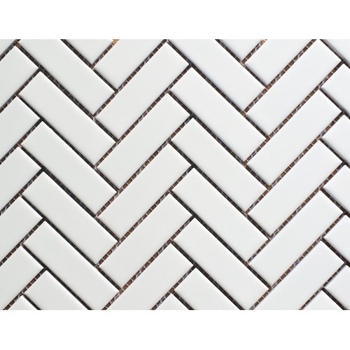 HERRINGBONE WHITE GLOSS 274X318