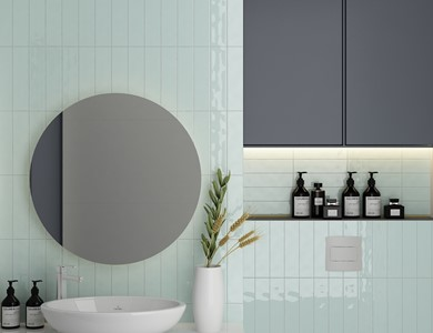 What size tile should I use in a small bathroom?