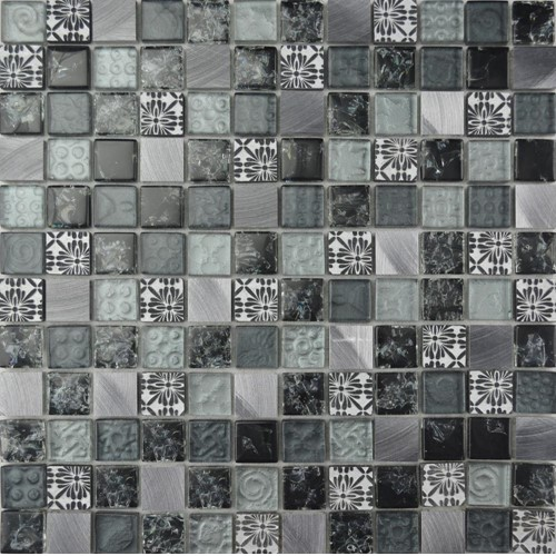 SELECT PARISIAN BLACK MOSAIC GLOSS 300X300
