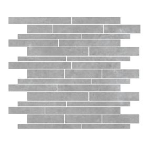PARADIGM LIGHT GREY STRIP MOSAIC MATT 300X300